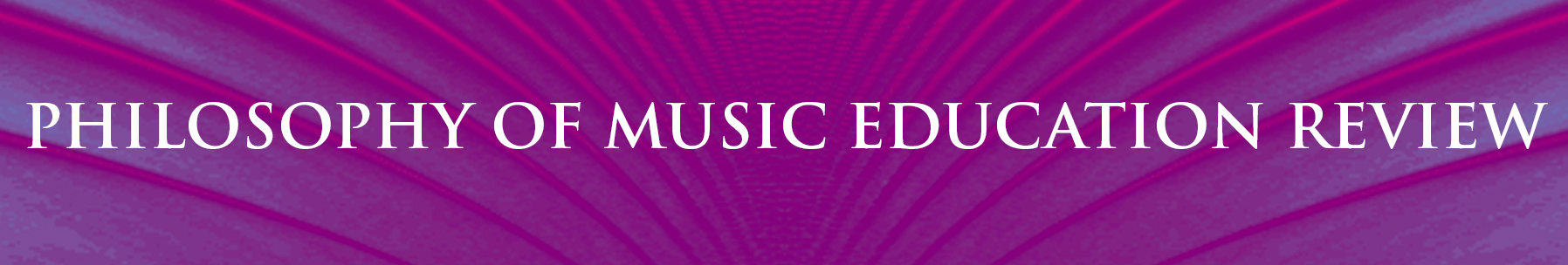 Cover of the Philosophy of Music Education Review