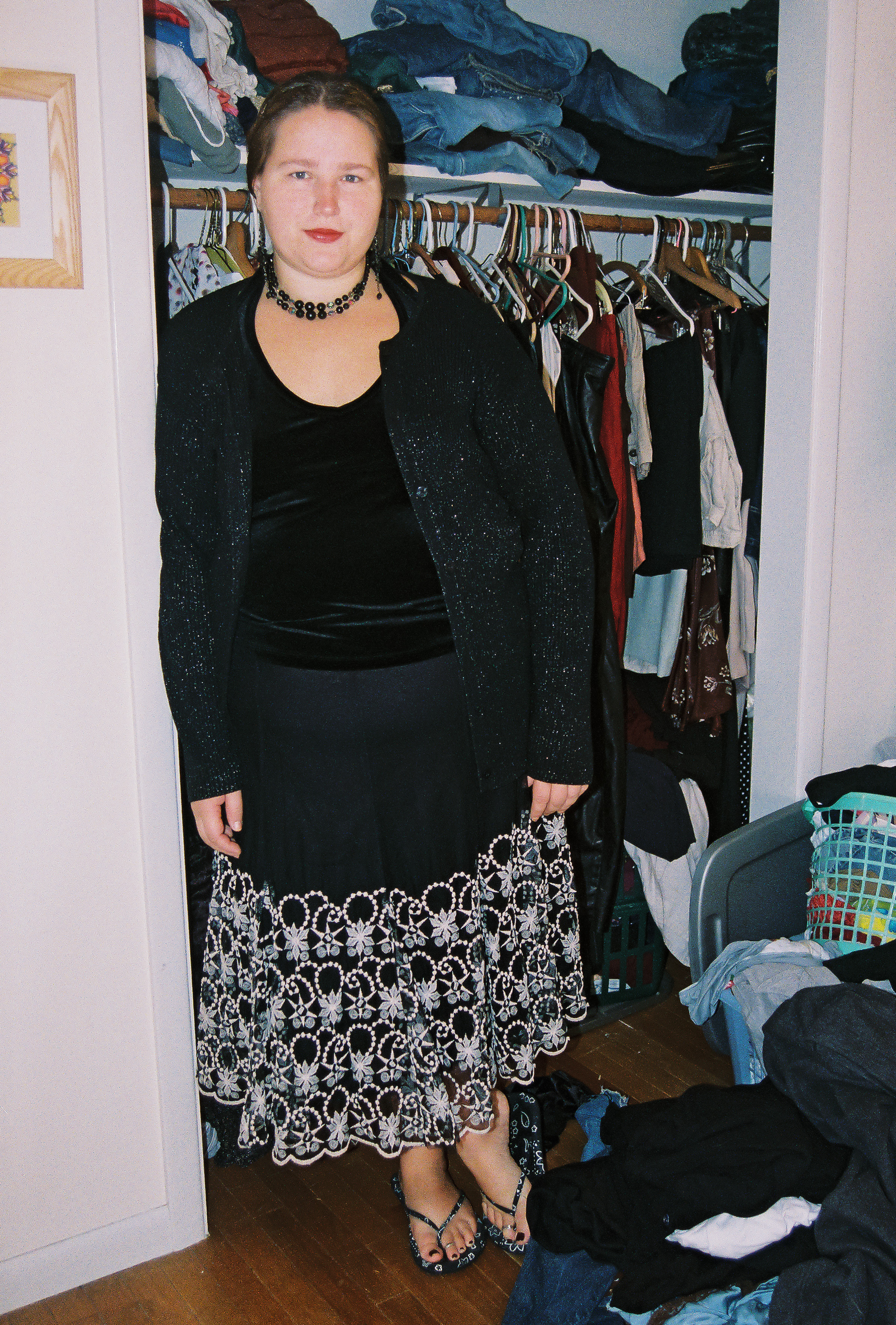 Figure 1. Rachael Himsel standing in front of her closet.