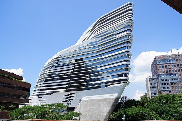 The Hong Kong Polytechnic University Hung Hom Campus, viewed from Hong Chong Road. By Simon Shek.