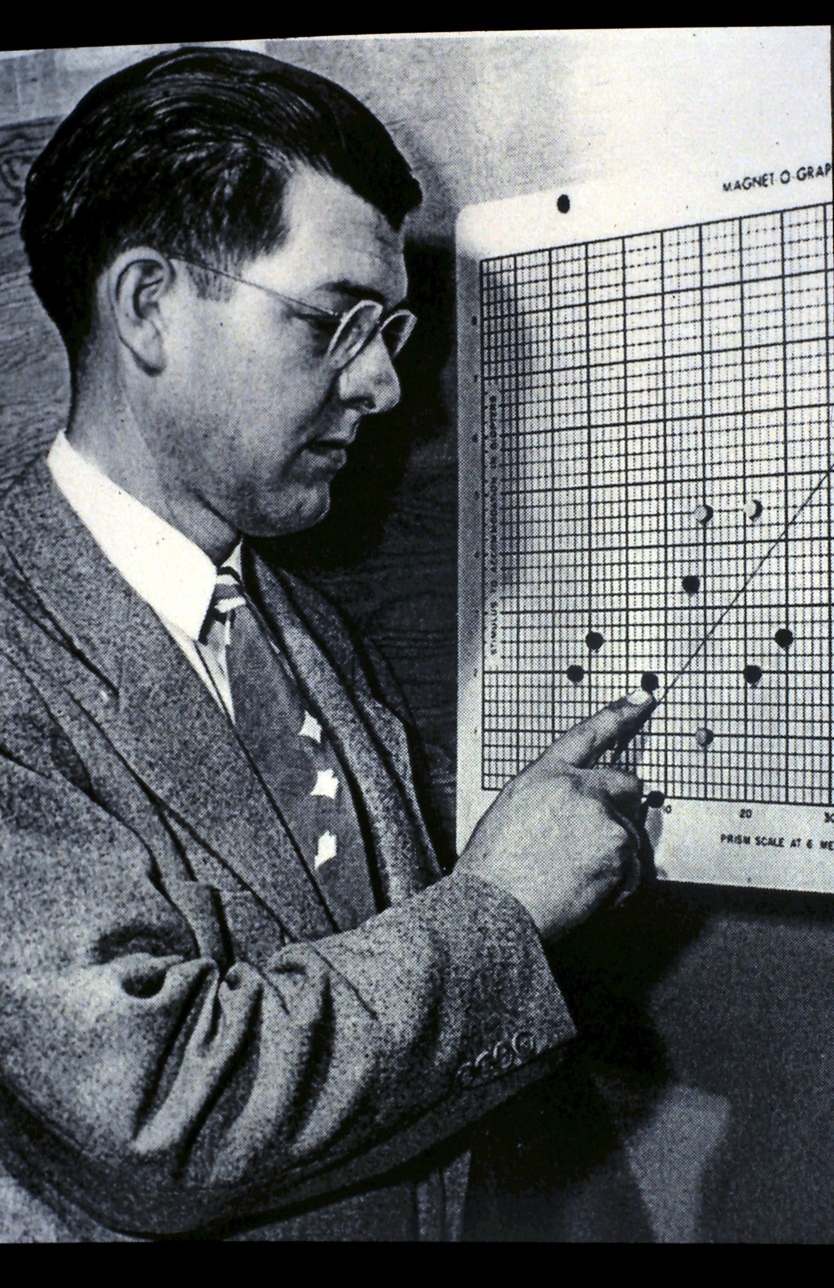 "Henry Hofstetter uses the ""Magnet-O-Graph"""