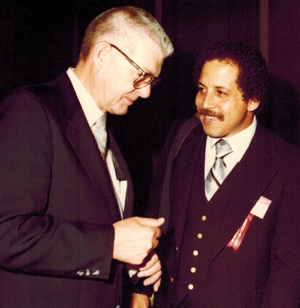 Professor Henry W Hofstetter and Professor Edwin Marshall at the IOOL Meeting in Japan, 1980