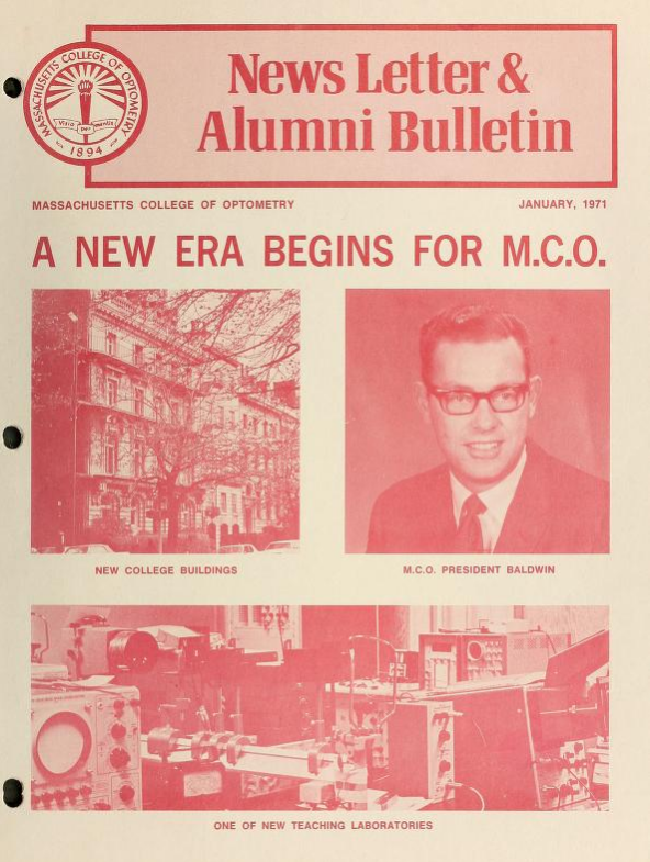 Picture of 1971 Massachusetts College of Optometry New Letter & Alumni Bulletin