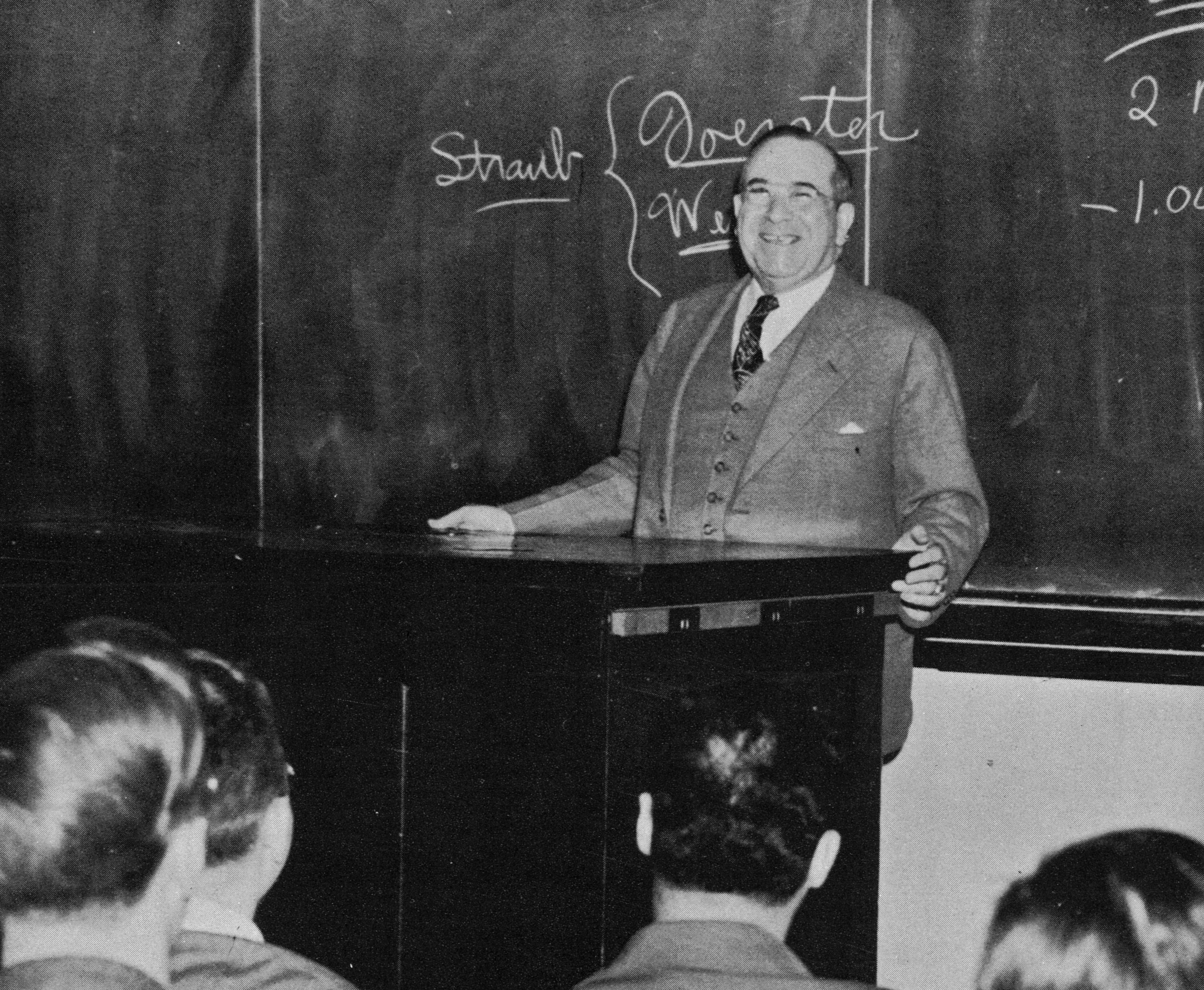 Picture of Dr. Albert Fitch Teaching