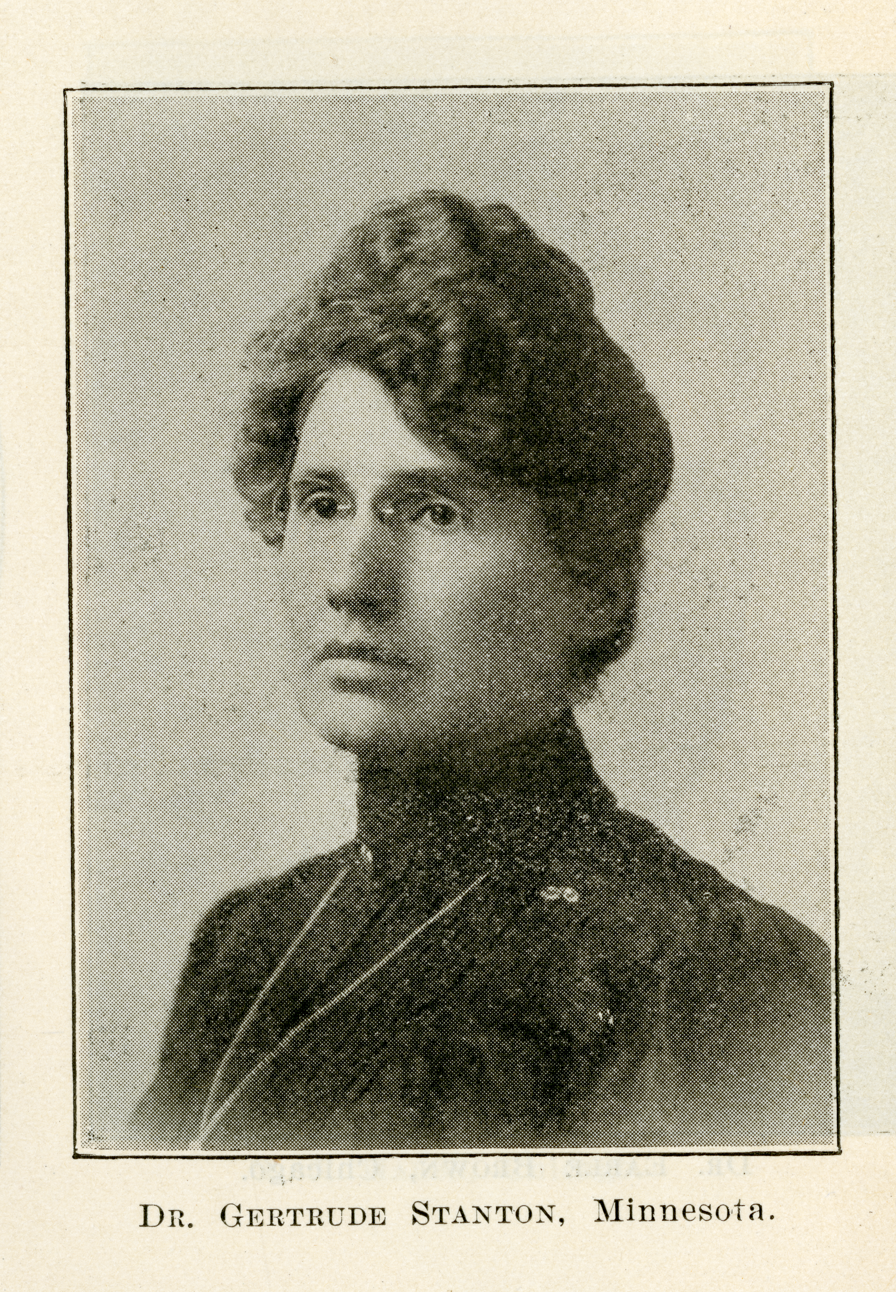 Portrait of Gertrude Stanton from the OJRO, 26 July 1906, p. 368.
