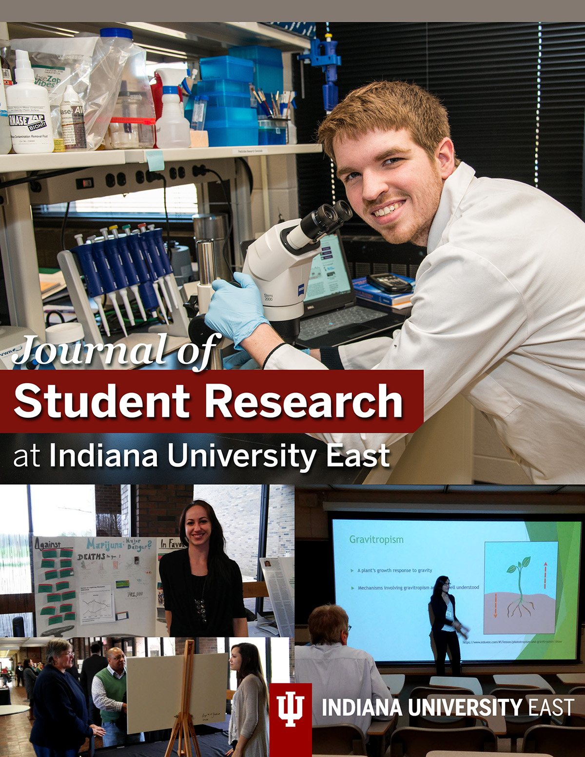 Image of IU East Students doing research on cover of journal