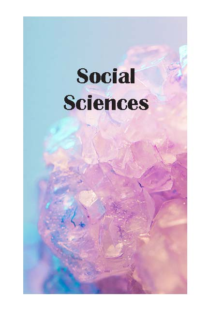 Social Sciences Section page Image of blue and pink crystals