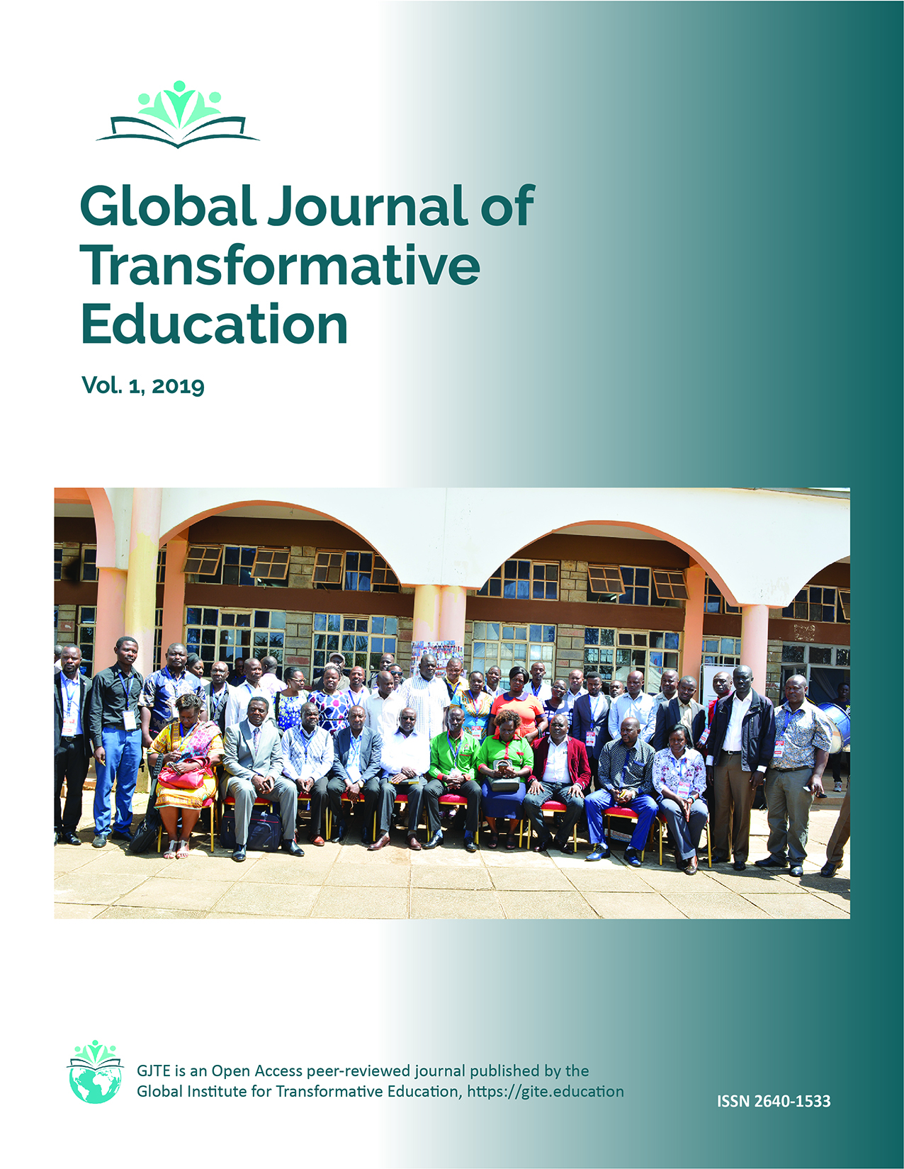 GJTE Cover - group picture from World Conference on Transformative Education
